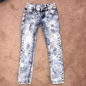Kids distressed/ripped jeans/acid wash